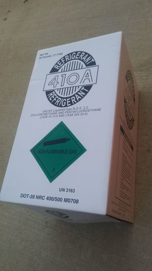 R410a 410a refrigerant freon new 25 lb. OBO NEW IN THE BOX for Sale in Houston, TX