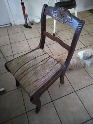 Chair antique rose carved for Sale in Fresno, CA