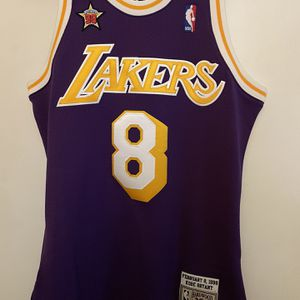 Men's Los Angeles Lakers Kobe Bryant Mitchell & Ness Purple 1996-97 Hardwood Classics Authentic Player Jersey for Sale in Carson, CA