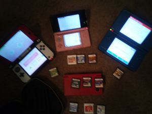 Pokemon themed Nintendo 3dsXL, pink 3ds, red DSi xl and blue dsi for Sale in St. Louis, MO
