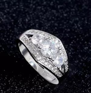 $10 new size 7 or 9 silver plated CZ ring for Sale in Ballwin, MO