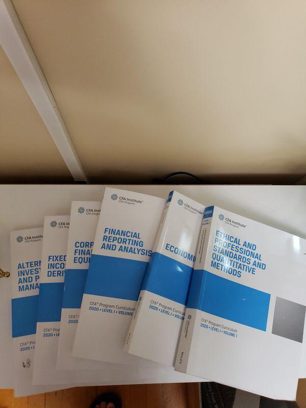 2020 CFA LEVEL 1 Volume 1-6 like new