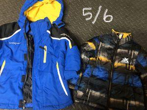 Kids snow ski jacket boots bibs for Sale in Santa Ana, CA