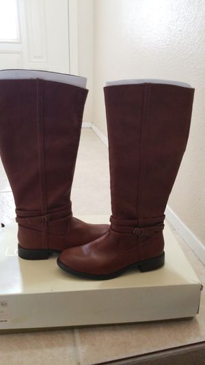 LAUREN CONRAD KEIR RIDING BOOTS COGNAC WOMENS 6.5 NEW IN BOX for Sale in Spring Valley, CA