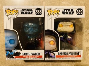 Star Wars Funko POP Darth Vader and Emperor Palpatine for Sale in Germantown, MD