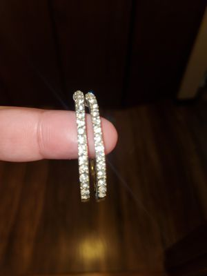 Diamond hoop earings for Sale in Olympia, WA
