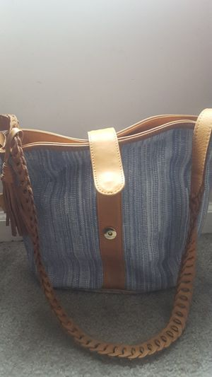 Blue Jean Tan Lether Bag for Sale in Columbus, OH