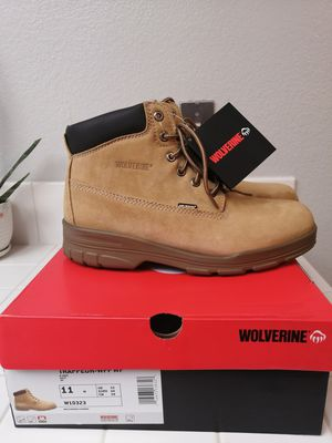 Brand new wolverine work boots for men. Size 11. Soft toe. Waterproof for Sale in Riverside, CA