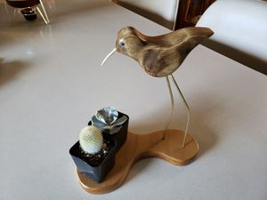 Sand Piper wood bird sculpture stand for succulents or whatever you want. for Sale in Marysville, WA