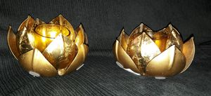 Lotus Gold leaf Metal Candle holders for Sale in Davenport, FL