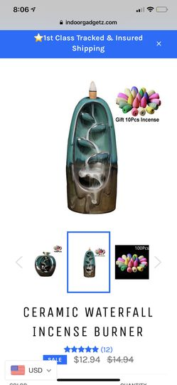 Ceramic Waterfall Incense Burner for Sale in West Mifflin,  PA