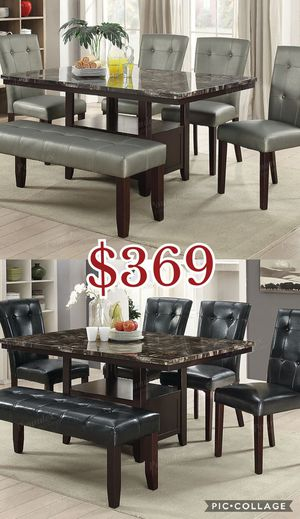 6pcs dining table set , table set , dining table, chairs for Sale in Los Angeles, CA