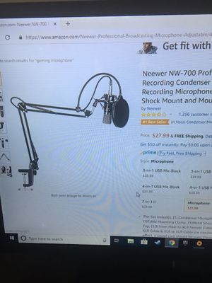 Neewer NW-700 Professional studio Broadcasting recording condenser microphone and ask arm stand. for Sale in Silver Spring, MD