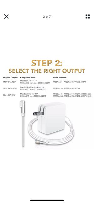 Charger for Apple MacBook Pro for Sale in Fresno, CA