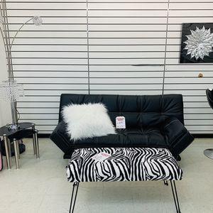 Sleek Leather futon for Sale in Greensboro, NC