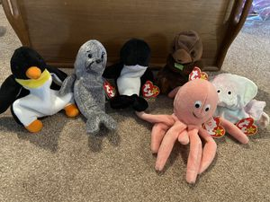 Various sea creature beanie babies for Sale in Puyallup, WA