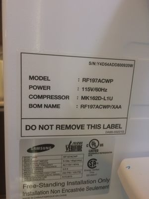 Samsung counter depth French door refrigerator for Sale in San Francisco, CA