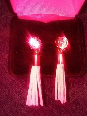 Diamond with white tassle Earrings for Sale in Henderson, NV