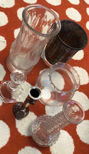 Multiple vases and candle holder for Sale in Denver, CO