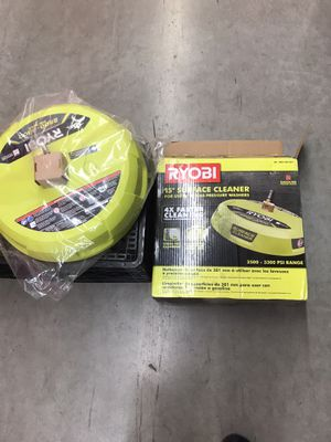Ryobi 15 inch 3300 psi surface cleaner for gas pressure washer for Sale in Lincoln Acres, CA