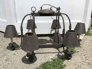 8 light kitchen pot rack for Sale in Franklin Square, NY