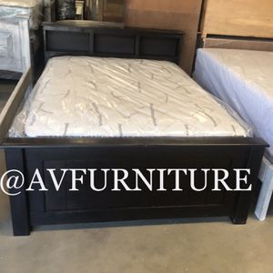 Solid Wood Full Bed And Mattress for Sale in Hawthorne, CA