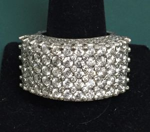 Big 13 carat diamond man's white gold ring MUST SEE! for Sale in Rockville, MD