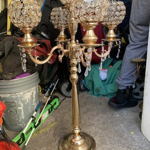 Tall Gold 5 Arm Candle Holder for Sale in Berkeley, CA
