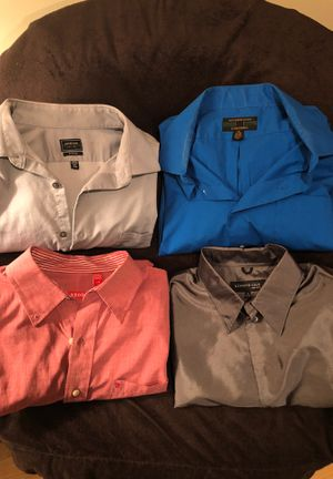 4 Men's Button Dress Shirts $5 for Sale in Orland Park, IL
