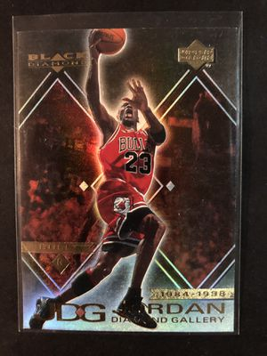 Michael Jordan 2000 Upper Deck Basketball Card Black Diamond Gallery. Air Jordan Chicago Bulls Basketball Trading Card for Sale in Chicago, IL