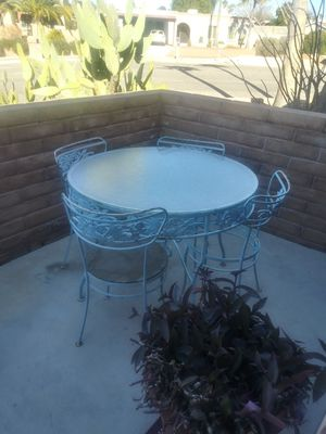50s cast iron table set for Sale in Tucson, AZ
