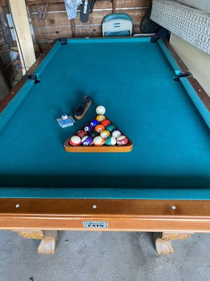 Wood pool table for Sale in Norfolk, VA