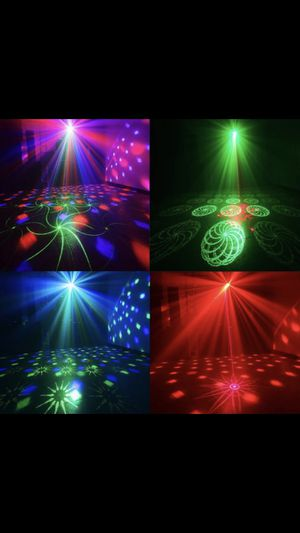 Dj party lights one of these lights it's all you need for your party 3 in one/ Luces para fiestas 3 en una muy fuerte una luz es todo lo que nesesita for Sale in Compton, CA