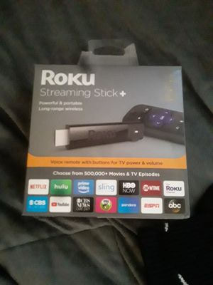 Roku streaming stick + for Sale in Kent, WA