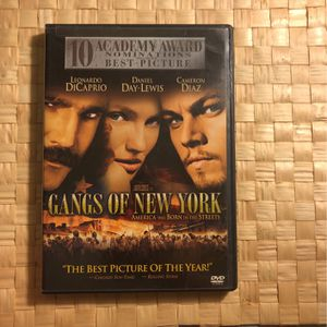 Gangs of New York. Movie DVD CD. for Sale in Long Beach, CA