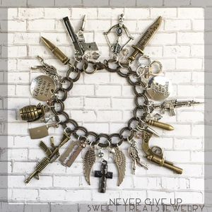 Charm Bracelet Never Give Up Handmade for Sale in Lake Oswego, OR