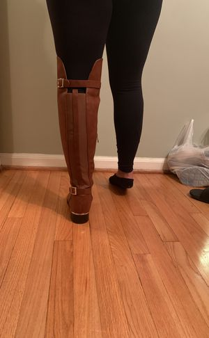 Camel thigh high boots for Sale in Dearborn, MI