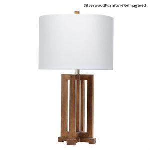 Silverwood Furniture Reimagined Gavin 28.25 in. Brown Table Lamp with Shade for Sale in Dallas, TX