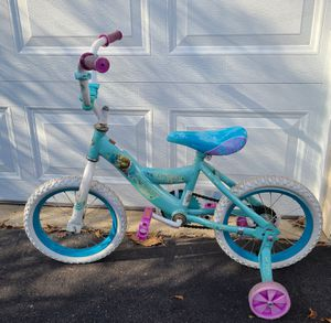 "Huffy Disney Frozen Cruiser Bike - 14"" w/ training wheels for Sale in Leesburg, VA"