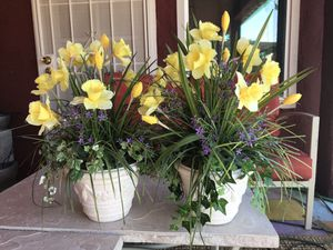 2 Artificial Flowers with pots for Sale in Glendale, AZ