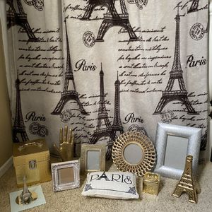 Paris Themed Home Decor - Frames, Blanket, Pillow and more for Sale in Fullerton, CA