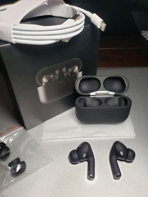 Airpods pro(wireless)Earphones tws custom black for Sale in Los Angeles, CA