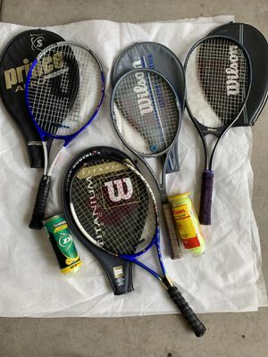 Wilson and Prince Tennis Rackets for Sale in Phoenix, AZ