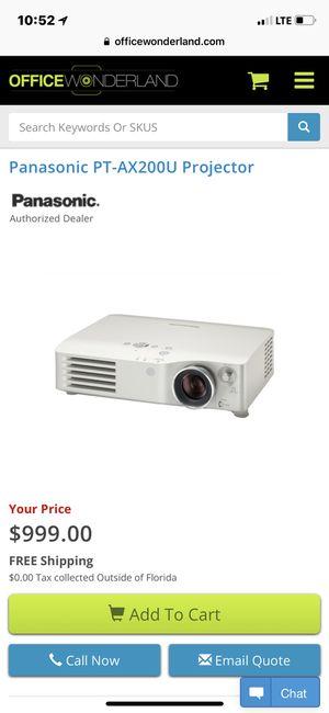 Panasonic pt-ax200u lcd projector for Sale in Fairfax, VA