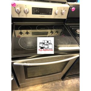 Samsung glass top stainless steel stove electric for Sale in Cleveland, OH