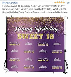 Sweet 16 photo back drop and photo booth props for Sale in Fullerton,  CA