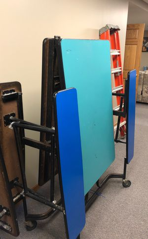 Folding cafeteria tables (3) of them for Sale in Lemont, IL