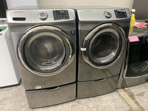 Platinum Front Load Samsung Washer And Gas Dryer for Sale in Orange, CA