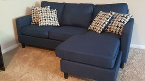 Barely used Bob's Furniture Blue L Couch for Sale in Woodbridge, VA