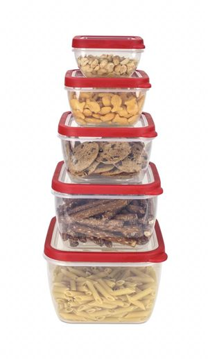 5 piece Nesting Storage Containers Set With Vented Covers for Sale in Alpharetta, GA
